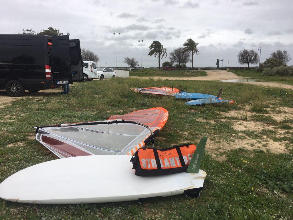 ウインドサーフィンスペイン合宿 道具