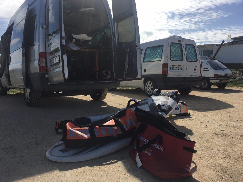 ウインドサーフィンスペイン合宿 キャンプ地 streamtrail
